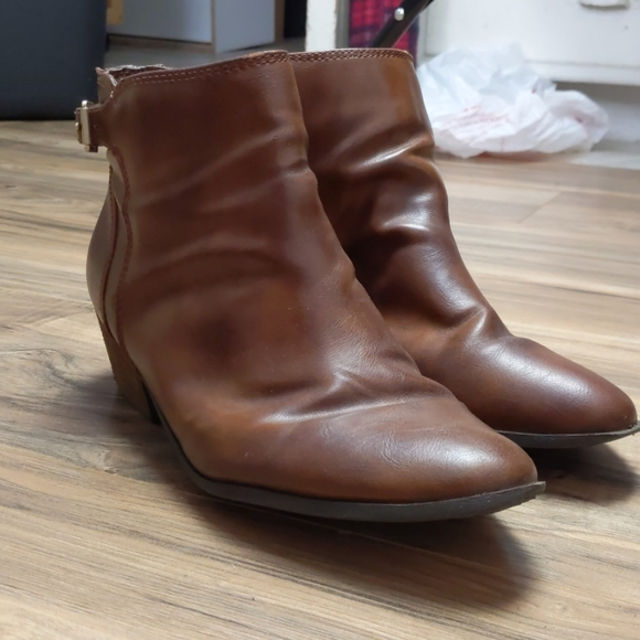 Dr. Scholl's Synthetic Leather Ankle Boots sz 10